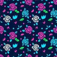 bloem naadloze patroon, bloemmotief vector
