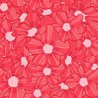 bloem naadloze patroon, bloem achtergrondstructuur, naadloze bloemmotief