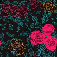 bloem roos naadloze patroon, vector bloem roos naadloze patroon, bloem achtergrond