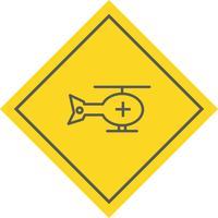 Helikopter pictogram ontwerp
