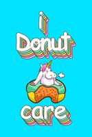 schattige eenhoorn en donuts citaten vector