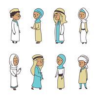 doodled moslimkinderen