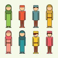 Geschetste moslimkinderen