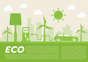 ECO auto concept.vector