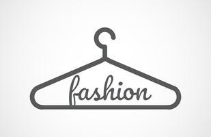 Vector grijze hangers pictogram, mode