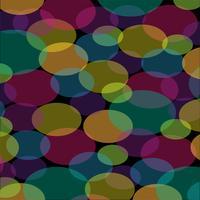 abstract ovaal patroon op zwarte achtergrond vector