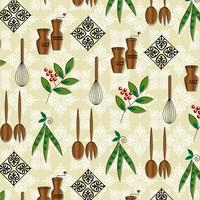 vintage keuken utensil patroon vector