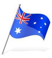 vlag van Australië vector illustratie