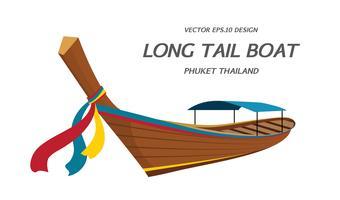 Lange staartboot, de vector van Thailand