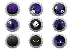 Halloween-kroonkurken Vector Pack