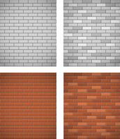 muur van witte en rode baksteen naadloze achtergrond vector