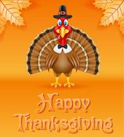 Thanksgiving kalkoen vogel vector illustratie