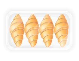 croissant in verpakking vectorillustratie