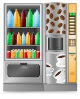 verkoop van koffie en water is een machine vector