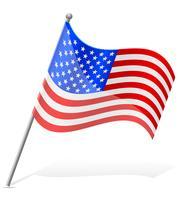 vlag Verenigde Staten van Amerika vector illustratie