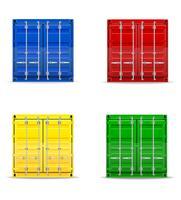 vrachtcontainer vectorillustratie