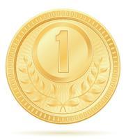 medaille winnaar sport goud voorraad vectorillustratie