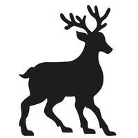 silhouet van een hert vectorillustratie vector