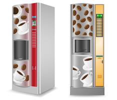 vending koffie is een machine vectorillustratie