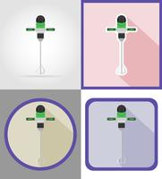 elektrische boorhulpmiddelen voor bouw en reparatie vlakke pictogrammen vectorillustratie vector