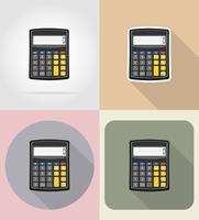 rekenmachine plat pictogrammen vector illustratie