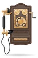 telefoon oude retro pictogram voorraad vectorillustratie vector