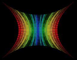 abstracte veelkleurige grafische equalizer vectorillustratie vector