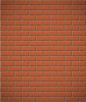 muur van rode baksteen naadloze achtergrond