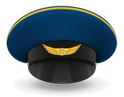 professionele uniforme cap of piloot vectorillustratie