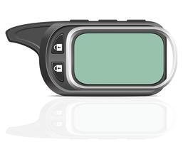 externe auto alarm vectorillustratie