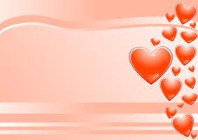 roze achtergrond en harten vector