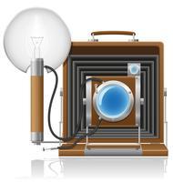 oude camera foto vector illustratie