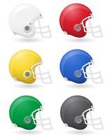 Amerikaanse voetbal helments vector illustratie