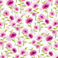 vrouwelijk roze bloemen vectorpatroon als achtergrond