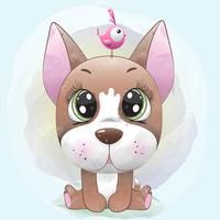 Leuke hond baby vector
