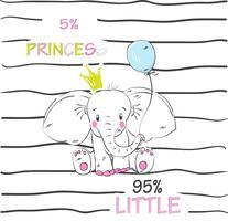 Schattige babyolifant vector