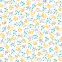 blauw geel grijs bladpatroon