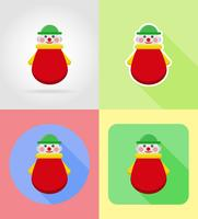 babyspeelgoed en accessoires platte iconen vectorillustratie
