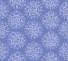 Sneeuw naadloos patroon, de sneeuwvlokkenachtergrond van de de wintervakantie. vector