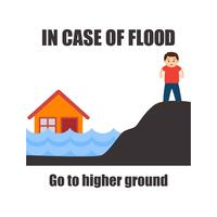 bewustzijn van overstromingen voor concept van de veiligheid van overstromingen vector
