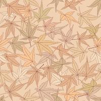 Laat naadloos patroon. Mooie bloemenbladachtergrond. vector