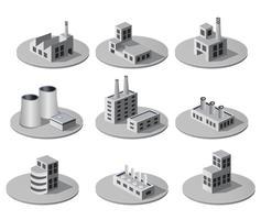 Isometrische stad vector