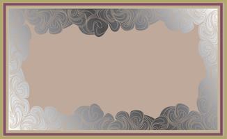 Frame in doodle stijl. Retro grensachtergrond vector