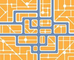 Plan van de stad met straten en huizen vector