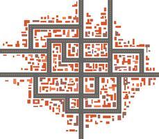 Stadsplattegronden vector
