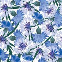 Abstract bloemen naadloos patroon. Zomer bloem achtergrond. vector