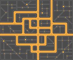 Plan straten vector