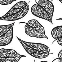 Bloemmotief met bladeren Natuur naadloze achtergrond. Herfst decor vector