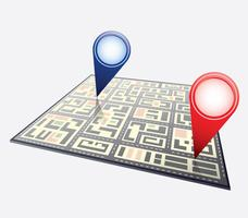 Stadsplattegrond vector