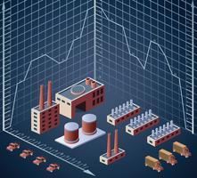 gebouwen en diagrammen vector